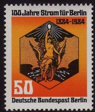 GERMANY MNH STAMP DEUTSCHE BUNDESPOST BERLIN 1984 ELECTRICAL COMPANY SG B682