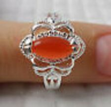 Good simple 1pcs S80 silver Opal GEMS Men and women rings Size8 (Q)