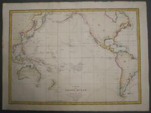 AUSTRALIA NEW ZEALAND AMERICAS PACIFIC 1797 LA PÉROUSE UNUSUAL ANTIQUE CHART