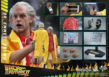 Hot Toys DR EMMETT BROWN Back To The Future PART II MMS380 ~~FACTORY SEALED~~