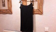 M&S Short Black Cami Nightdress Size 12