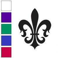 Fleur De Lis Art Decal Sticker Choose Color + Size #864