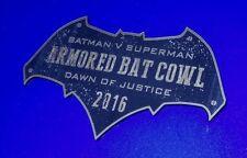 CUSTOM 2016 ARMORED BAT COWL DISPLAY PLACARD BATMAN DAWN OF JUSTICE SUPERMAN
