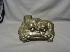 Detailed Cold Cast Bronze Resin Dog Figure 2 Cavalier King Charles Spaniels
