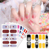 Nail Art Stickers Full Cover Sticker Wraps Nail Vinyls Adhesive Nails Decals