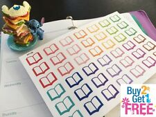 PP136 -- Small Open Books Life Planner Die-cut Stickers for Erin Condren (42pcs)
