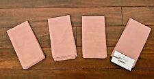 WEST ELM Metallic Napkins LIGHT CORAL PINK Summer SPRING Shimmery  S/4 NWT