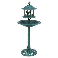 Bird Bath & Feeder Ornamental Hotel Garden Birds Table Station Green Feeding New