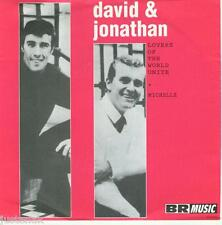 DAVID & JONATHAN 'Lovers of the World Unite / Michelle' DUTCH JUKEBOX VINYL 45