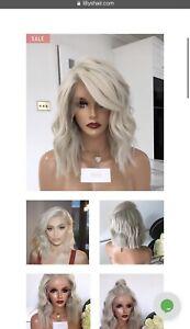 Human Hair Platinum Blonde Wig