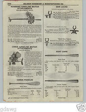 1922 PAPER AD Caille Liberty Drive Rowboat Canoe Gas Gasoline Motor Outboard
