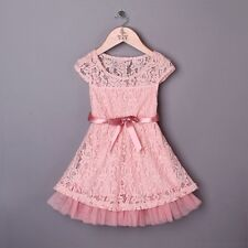 Girls Pink Vintage Inspired Dress Party Dress Size 5 years New