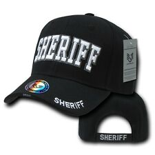 Black County Sheriff Police Officer Deputy Costume Cop Baseball Ball Cap Hat