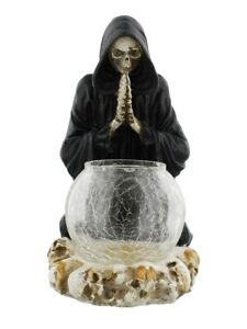 Candle Holder Reapers Prayer Black 19.5cm