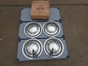 "1960-61 Ford Galaxie wheel covers, set of four, 14"", NOS! C1AZ-1130-A"