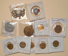 11 Greece & Greek Related Items Tokens Medals Pins Flag