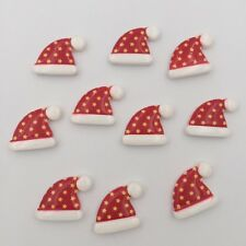 10pcs Resin hand painting Christmas hat Flatback stone/Children DIY scrapbook