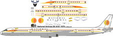 National Sunking livery Douglas DC-8-61  decals for Minicraft 1/144 kits