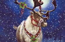 Home Wall Art Decor Christmas Reindeer Oil Painting Picture HD Printed on Canvas