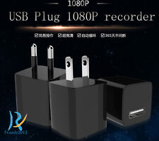 1080P Video Audio HD 8GB USB power adapter Plug spy micro hidden camera recorder