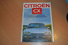 CATALOGUE Citroën CX de 1987 Suisse