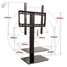 Universal Table Top TV Stand DVD Bracket Glass Pedestal LCD LED VESA Mount UKDC