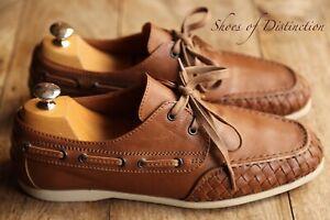 Men's Bottega Veneta Brown Leather Loafer Boat Deck Shoes UK 8 US 9 EU 42