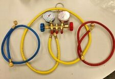 R12 R22 R134a Manifold Gauge Set HVAC Refrigeration Charging Hoses Kit Johnsen's