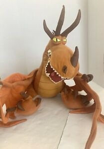 How to Train Your Dragon Monstrous Nightmare Huge Plush Hookfang Dreamworks XL
