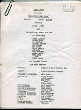 "1958 Original Studio Used TV Script: ""CLUB OASIS"" - ""THE SPIKE JONES SHOW"""