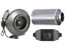"4"" 6"" 8"" 10"" 12"" Inch Inline Booster Blower Fan w/ Carbon Scrubber Air Filter"