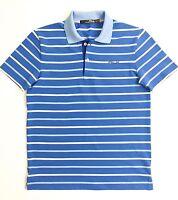 RLX Golf Ralph Lauren Men's T-Shirt Blue/White Stripe Performance Polo