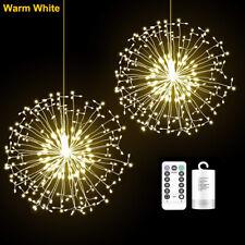 198 LED Feuerwerk Lichterkette Batterie Außen Innen Haus Garten Weihnachtsdeko