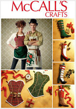 McCall's 7062 Sewing Pattern to MAKE Christmas Stockings Sacks Aprons Steampunk