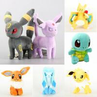 Pokemon Figures Plush Toy Stuffed Doll 7'' Kid Baby Gift Set : Charizard Eevee