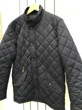 Barbour Mens Navy 'Matt Fulham' Quilt Jacket, Corded Collar Size XS