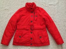 a.n.a. Womens Zip Button Front Quilted Rain Coat Jacket * PS * Orange * EUC *