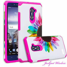 For ZTE ZMAX PRO Z981 Heavy Duty Hybrid Armor Shockproof Cover Phone Hard Case