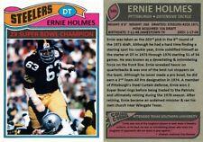Ernie Holmes Pittsburgh Steelers Custom Card