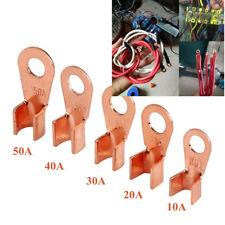 70xOT 10A 20A 30A 50A Open Barrel Wire Crimp Connector Copper Ring Lug Terminals