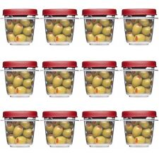 Rubbermaid Easy Find Lids Square 1/2-cup Food Storage Container Pack of 12 Cups