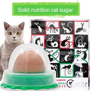 1-12X Cat Treats 'Kitty Chups' Healthy Cat Snacks Catnip Sugar Candy Energy Ball