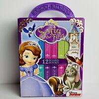 Disney Sofia The First 12 Board Book Block Box Set Preschool Princess EUC
