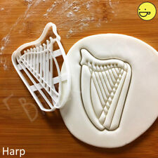 Harp cookie cutter | Celtic stringed musical instrument music orchestra Irish