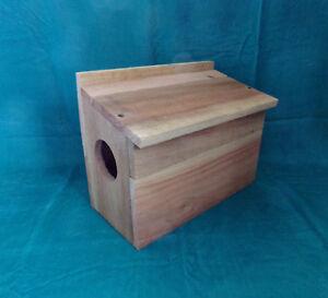 Squirrel Nesting House / Box Custom Built Solid Cedar Construction FREE SHIPPING