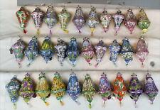 30 Bradford Exchange 2001 Porcelain Louis Tiffany Christmas Ornament Collection