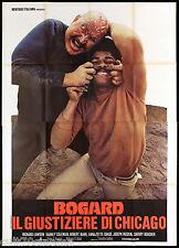BOGARD IL GIUSTIZIERE DI CHICAGO BLAXPLOITATION 1975 BLACK FIST MOVIE POSTER 4F