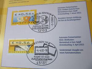 Erinnerungsblatt Automatenmarken von der D-Mark zum Euro