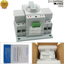 Dual Power Automatic Transfer Switch 2P 63A 150x38x115mm Toggle Switch