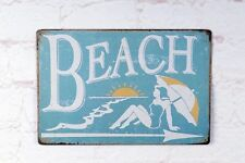 Antique Metal Tin Sign The Direction Of Beach Bar Home Pub Wall Decoration